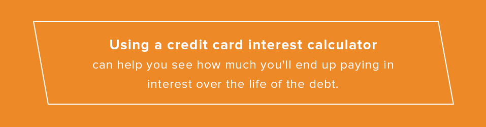 use a credit card interest calculator