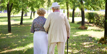 senior citizens walking together