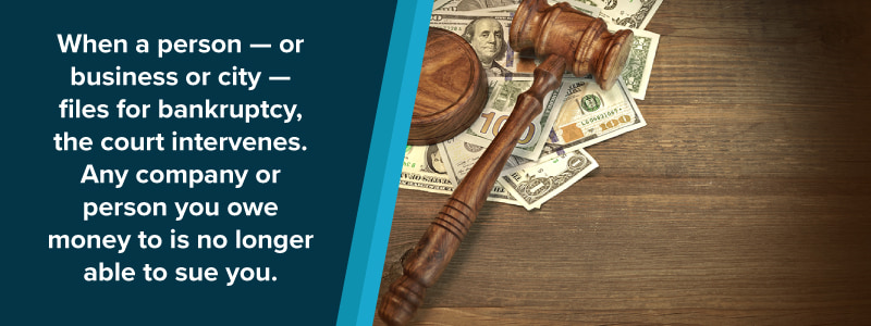 gavel and paper currency